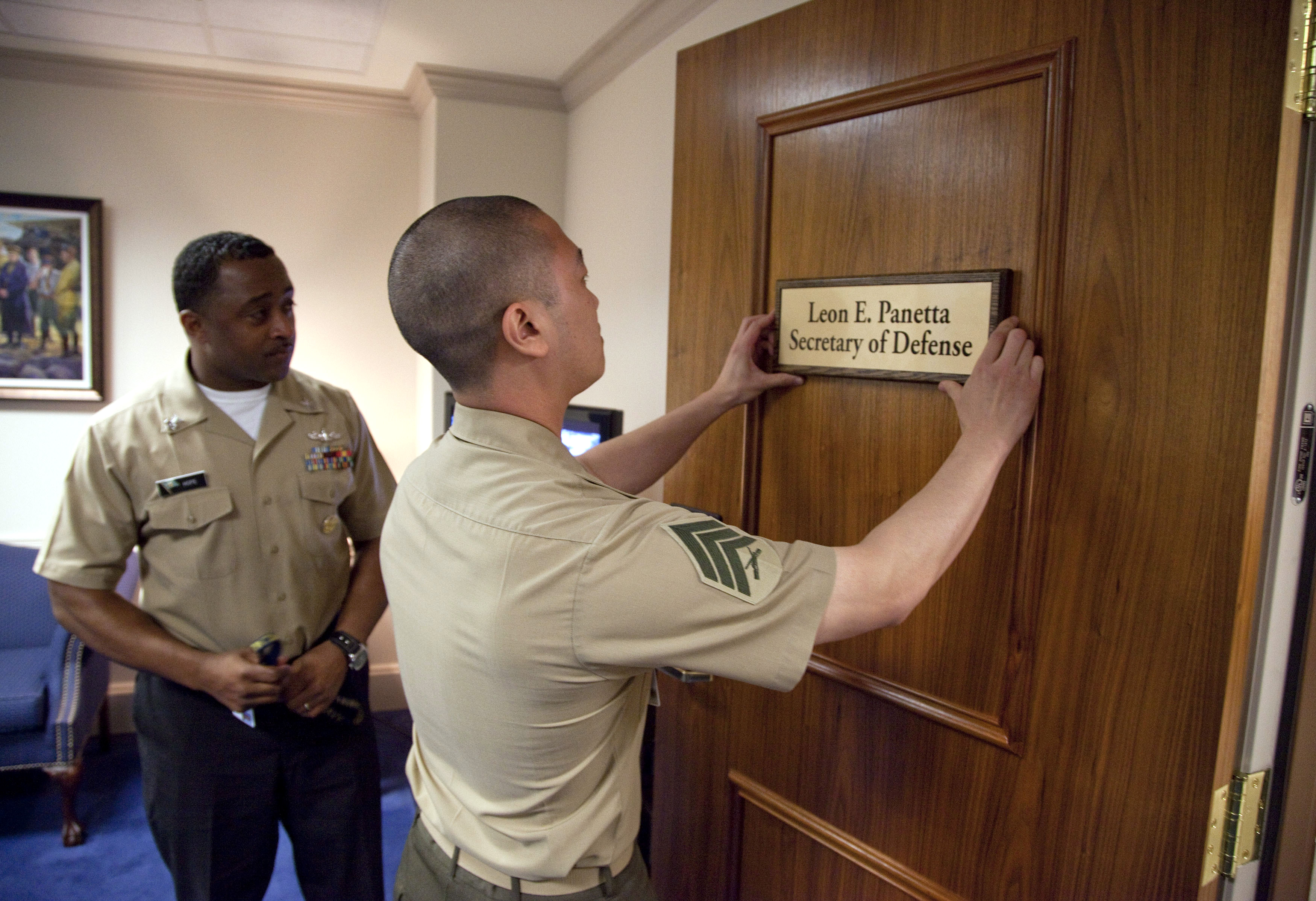 Panetta Sworn In As Defense Secretary Taking Over A