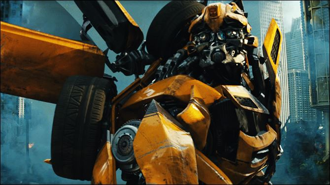 Bumblebee  Bumblebee is shown in a scene from ' 'Transformers: Dark of the Moon.'