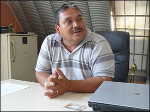 Rigoberto Carias, operations manager, says access to the dump has been decreased by issuing of credentials. About 1,400 have such permits, which cost $6 a year. The fee goes to research on dump workers.