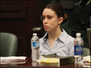 Casey Anthony at the defense table at the start of the final day of arguments in her murder trial at the Orange County Courthouse in Orlando, Fla., Monday.