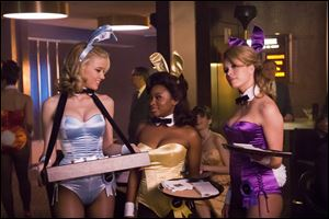 "Amber Heard, from left, Naturi Naughton and Leah Renee are shown in a scene from ""The Playboy Club."""