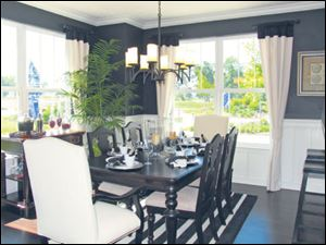Invite friends to dine in this elegant dining room.