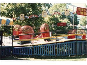 The Tilt-A-Whirl located at Vollmer's Park.