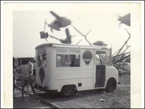 A snow cone truck build by R.W. Bishop, in this 1964 photo.