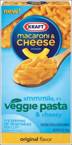In an effort to ride a renewed interest in healthy eating to fatter profits, Kraft started stocking Kraft Macaroni & Cheese Dinner Veggie Pasta. Every neon-orange cup serving packs a half-serving of cauliflower.