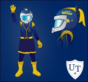 Toledo released an artist's rendering of its second mascot, a female version of Rocky, which will be unveiled at an Aug. 31 pep rally.