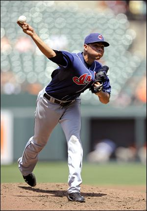 Indians' starter Jeanmar Gomez lasted five innings Sunday, giving up five hits -- including three solo homers. The Orioles won 8-3.
