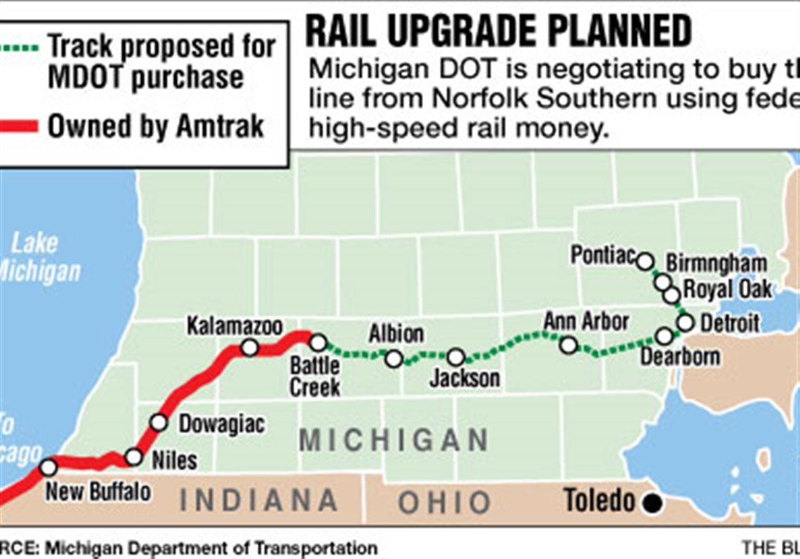Michigan To Buy Rail Line For High Speed Amtrak Toledo Blade