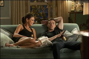 Mila Kunis, left, and Justin Timberlake star in the romantic comedy 'Friends with Benefits.'