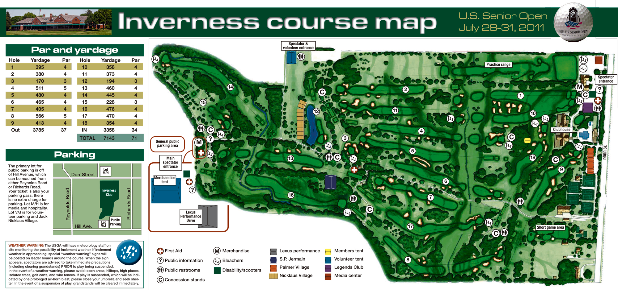 Inverness Holebyhole The Blade - Us open course map