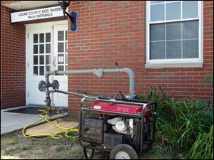A power outage required the use of a generator at the Dog Warden's office to cool the dogs.