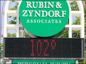 Toledo hit 102 degrees Thursday, July 21, 2011.
