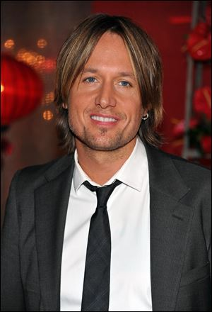 Recording artist Keith Urban arrives at the 2010 BMI Country Awards in Nashville, Tenn.