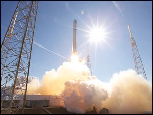 SpaceX launches a Dragon spacecraft on a Falcon 9 rocket Dec. 8, 2010, from the Cape Canaveral Air Force Station.