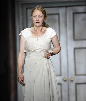 Kelly Hunter as Queen Hermione in 'The Winter's Tale' in New York.