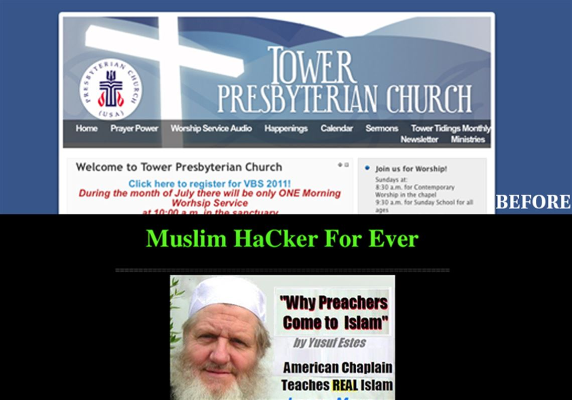 Church Web sites hacked to push conversion to Islam | Toledo