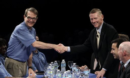 Uaw talks to seek seat on ford s board the blade for Ford motor company alan mulally