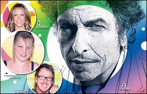 Musicians, from top, Sheryl Crow, Crystal Bowersox, and Scott Shriner share their views on Bob Dylan.