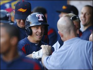 Brandon Inge is all smiles after hitting a home run in the third inning.