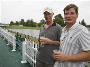 Dennis Lindsley and Brad Shaffer in the Jack Nicklaus Village at the Inverness Club.