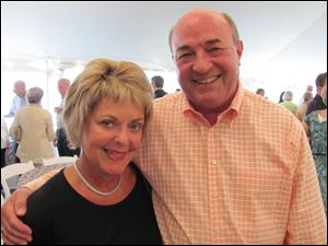 Nancy and Tom Kabat at the U.S. Senior Open at Inverness Club.