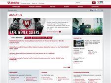 McAfee-website