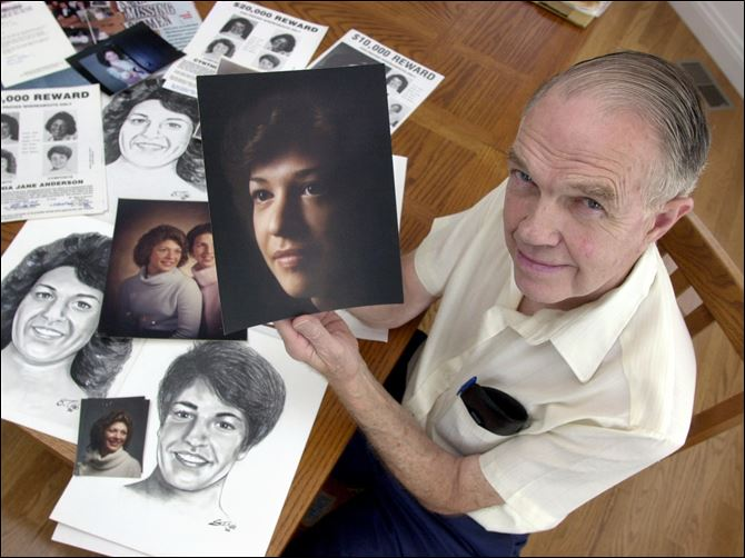 Man dies awaiting daughter's safe return  Before he died in 2008, Michael Anderson refused to move from his Bedford Township home in case his daughter Cynthia, who disappeared in 1981, tried to return.