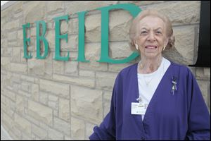 Corinne Krakoff, a volunteer at Ebeid Hospital in Sylvania, was instrumental in starting hospice at Lake Park and in starting the Swan Creek Retirement Village.