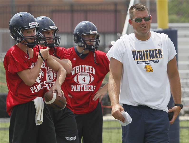 tyler-palka-coach-justin-keller-with-QBs-08-08-2011