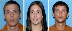 Ryan Edward Dougherty, 21, Lee Grace Dougherty, 29, and Dylan Dougherty Stanley, 26.