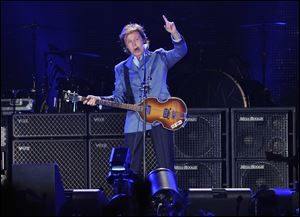 Paul McCartney, currently on tour, plays July 31 at Wrigley Field in Chicago.