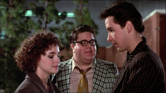 Better off Dead Diane Franklin, Dan Schneider, and John Cusak in the 1985 film 'Better off Dead.'