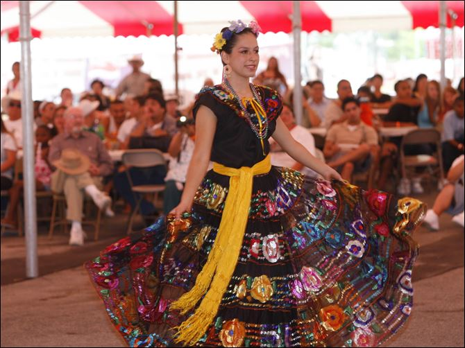 South of the Border A dancer with the Ballet Folklorico Imagenes Mexicanas performs at Ohio's South of the Border Festival.