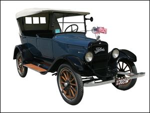 1917 Willys-Knight Touring Car.
