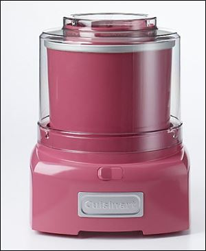 Cuisinart Frozen Yogurt, Ice Cream & Sorbet Maker in honeysuckle pink.