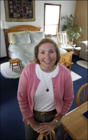 Linda Johnson, a certified midwife, has a birthing center in Bedford Township.