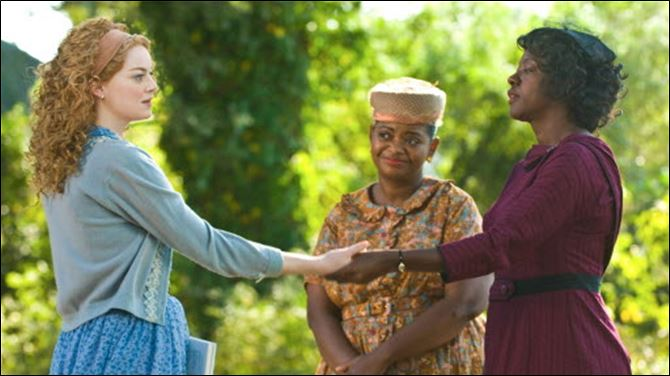 The Help box office results 08 22 2011 Emma Stone, Octavia Spencer and Viola Davis are shown in a scene from