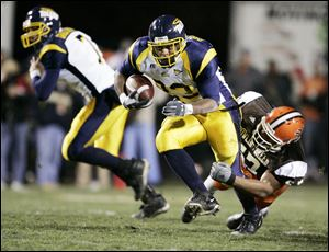 Former Toledo football player Quinton Broussard, shown during a 2005 game, was a four-year letterman at running back during his time at the University of Toledo.