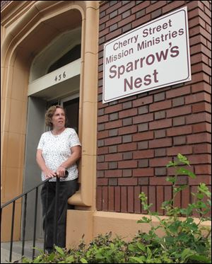 Julie Geesey is a resident at the Sparrow's Nest, a Cherry Street Mission Ministries shelter with 61 beds. The facility is seeing an 18 percent increase in women staying in the shelter from a year ago.