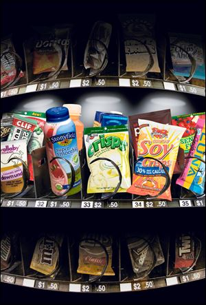 Most vending machines don't offer healthy options but new machines are designed to offer better choices such as carrot sticks.