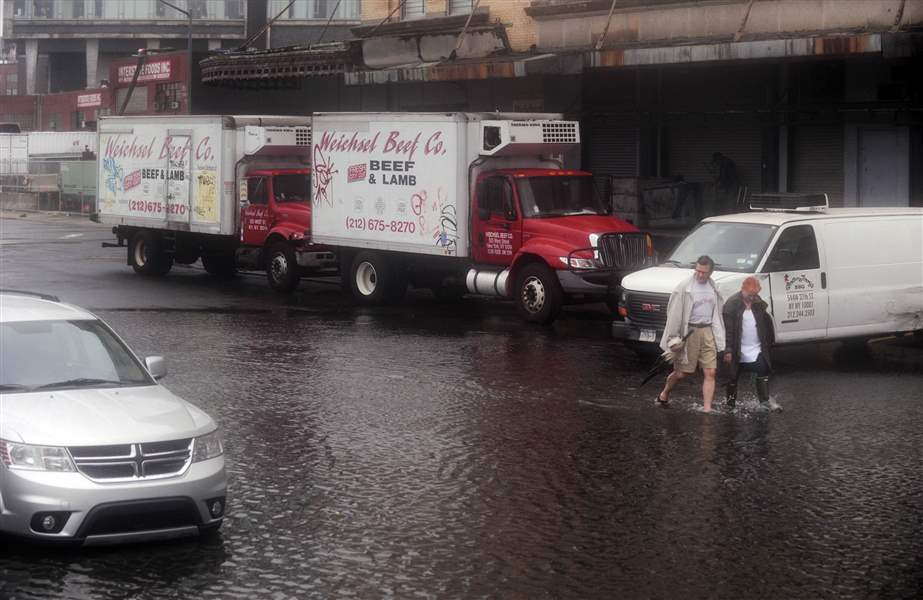 New-York-City-Meatpacking-District-flooded-by-Irene