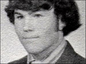 Michael Navarre went to Central Catholic High School. Yearbook photo circa 1973.
