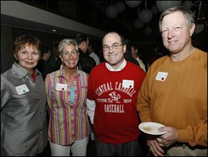 Charlotte Best, Gina Shiffert, Chief Mike Navarre and Thomas Tillander at the Central Catholic Celeb Wait Night at Navy Bistro on May 6, 2007.