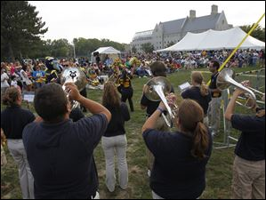 The UT band performs during University of Toledo's Music Fest in Toledo, Ohio.