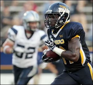 Brandon Reedy had five catches for 113 yards and two touchdowns in Toledo's season-opening win over New Hampshire.