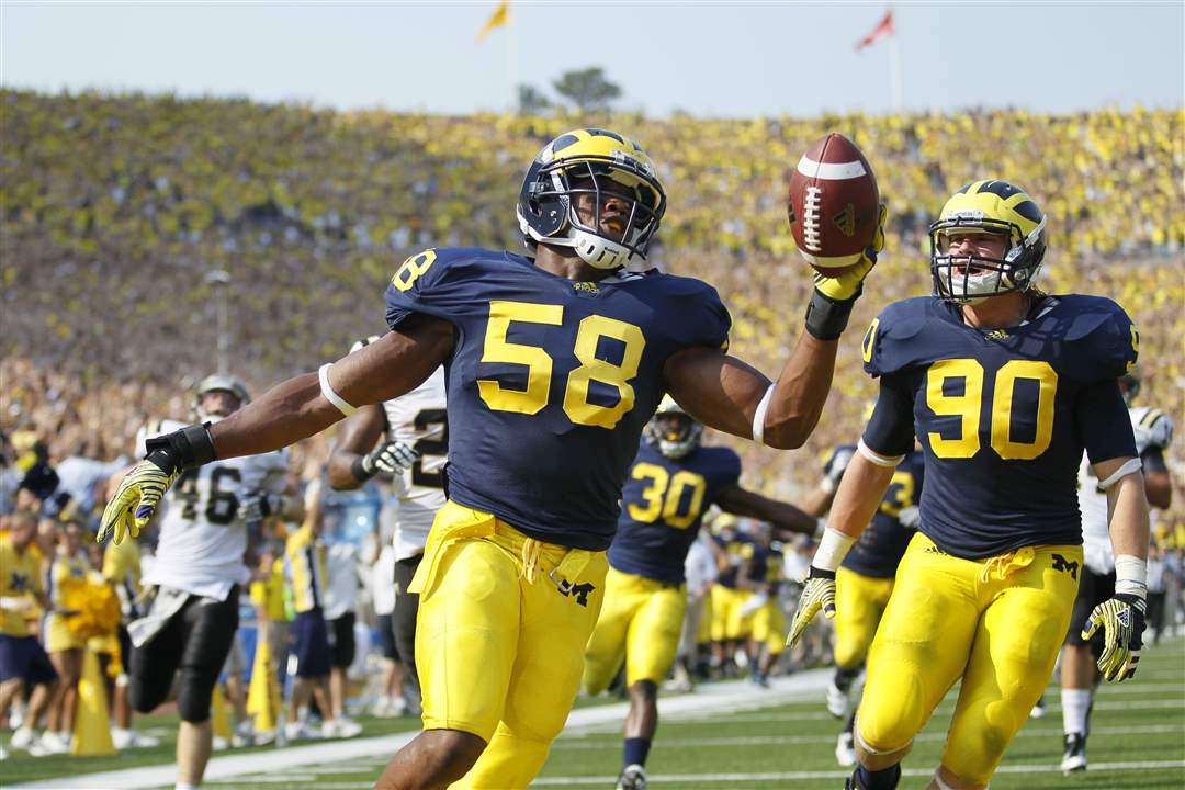 Brandon-Herron-Jake-Ryan-Michigan-interception-touchdown