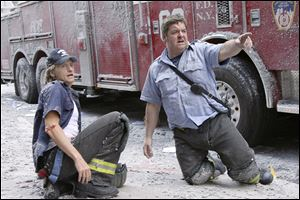 "Denis Leary as Tommy Gavin and John Scurti as Lt. Kenny ""Lou"" Shea in a scene from ""Rescue Me."""