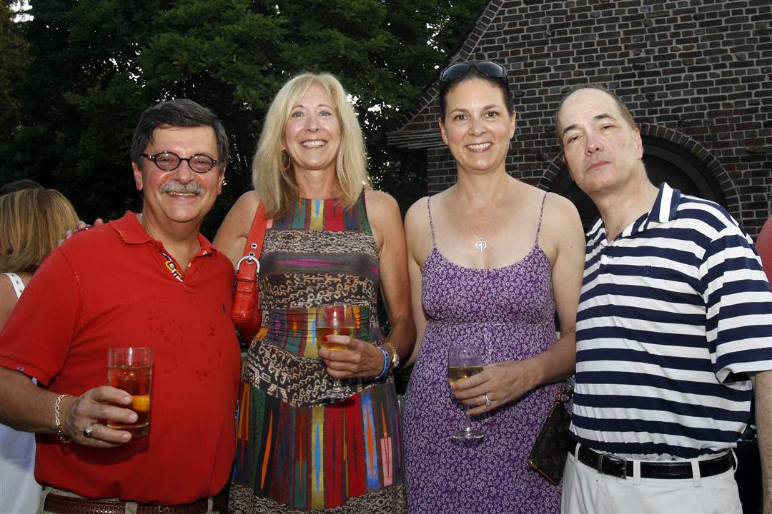 From-left-Dr-Allan-Rubin-Sandra-Hylant-Susan-Block-Allan-James-Block-at-Art-and-Autism-charity-event