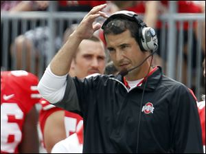 Ohio State head coach Luke Fickell during the UT-OSU matchup.