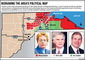 Redrawing the area's political map.